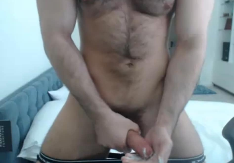 Hairy Muscle Bear On Live Cam